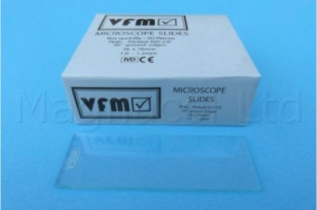 Microscope Clear Plain Slides - Pack of 100